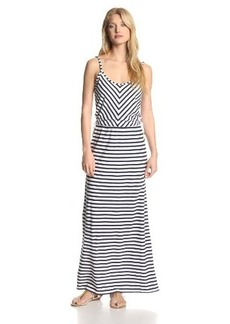Juicy Couture Women's Micro Terry-Stripe Maxi Dress