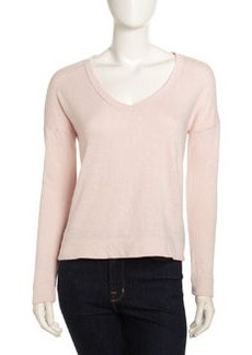 James Perse V-Neck Knit Pullover, Puff