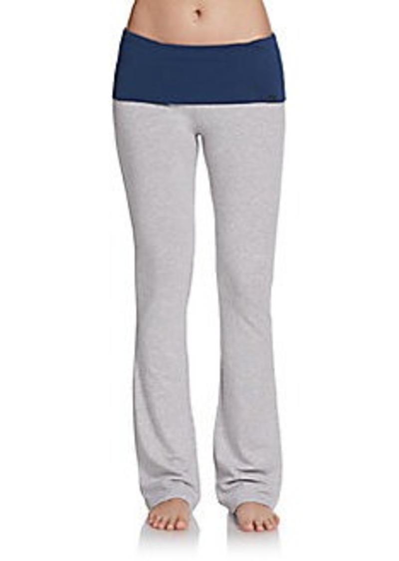 Steve Madden Stretch Cotton Fold-Over Pants