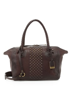 Frye Jesse Peeping Stud Leather Tote Bag, Dark Brown