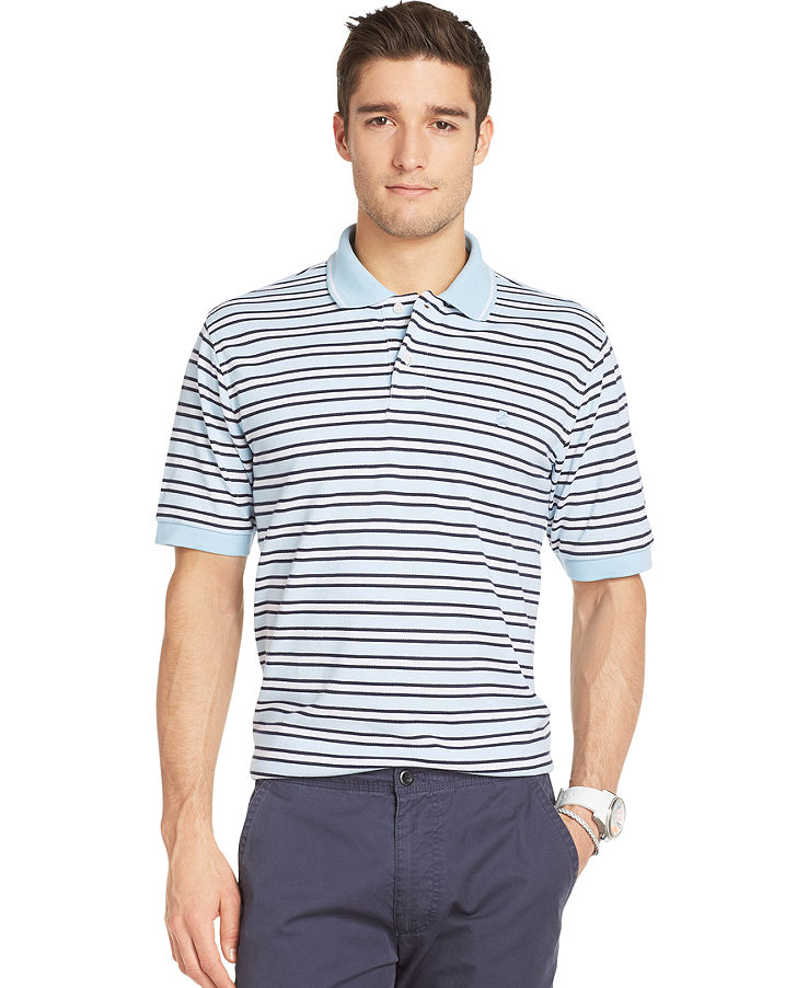 Izod big and tall striped polo shop it to me all sales for Big and tall polo shirts on sale