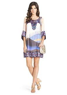 Vail Printed Silk Tunic Dress