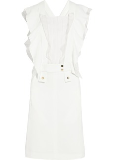Chloé Organza-ruffled crepe dress