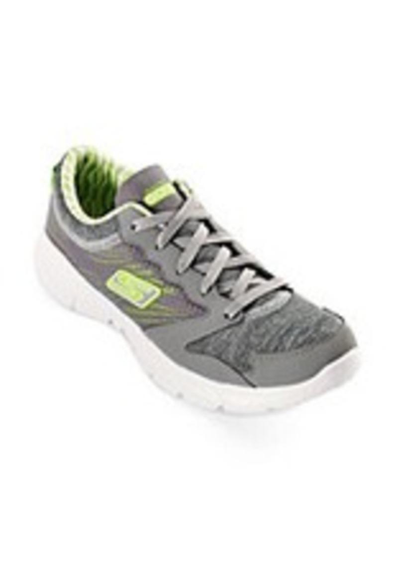 "Skechers® GOfit® ""Workout Craze"" Athletic Shoes - Grey/Lime"