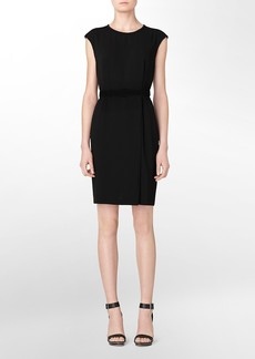 2 pocket belted sheath dress
