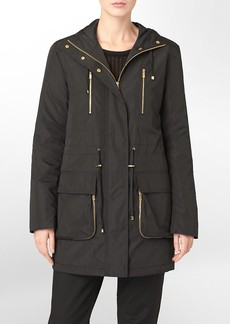anorak zip detail hooded jacket