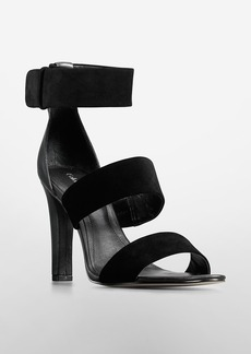asa suede + leather high heel sandal