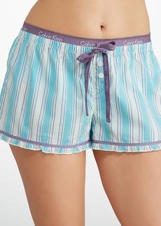 Calvin Klein + Stripe Pajama Shorts
