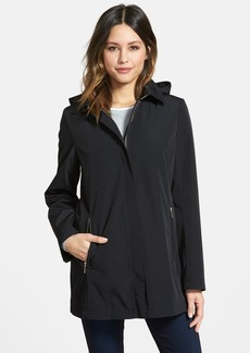 Calvin Klein A-Line Raincoat with Detachable Hood