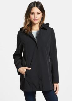 Calvin Klein A-Line Raincoat with Detachable Hood