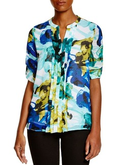 Calvin Klein Abstract Floral Print Blouse
