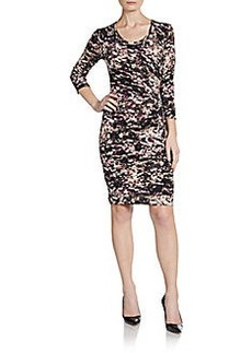 Calvin Klein Abstract Floral Print Knit Dress