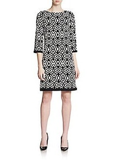 Calvin Klein Abstract Geometric-Print Dress