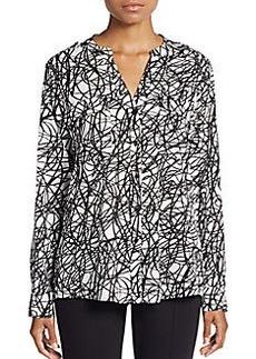 Calvin Klein Abstract-Print Blouse