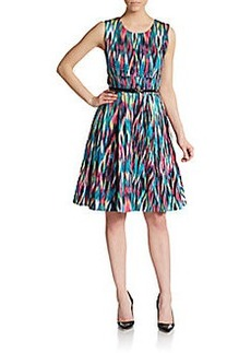 Calvin Klein Abstract-Print Stretch Cotton Dress