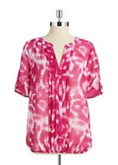 CALVIN KLEIN Abstracted Patterned Blouse