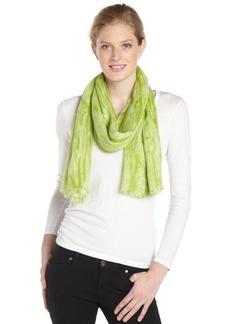 Calvin Klein aloe green distressed printed scarf