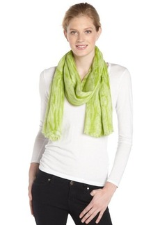 Calvin Klein aloe green distressed printed scarf