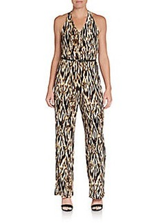 Calvin Klein Animal-Print Jersey Knit Jumpsuit