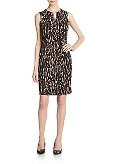 Calvin Klein Animal-Print Sheath Dress