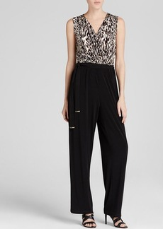 Calvin Klein Animal Print Top Jumpsuit