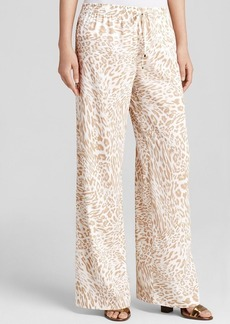 Calvin Klein Animal Print Wide Leg Pants