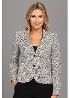 Calvin Klein Animal Printed 2 Button Jacket