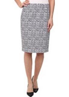 Calvin Klein Animal Printed Pencil Skirt