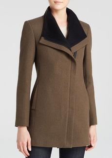 Calvin Klein Asymmetric Front Wool Coat
