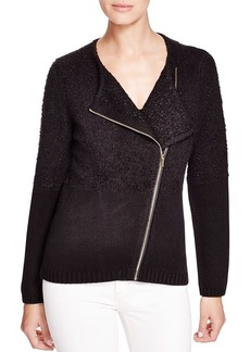 Calvin Klein Asymmetric Textured Knit Jacket