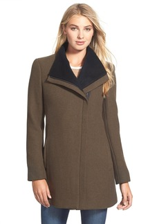 Calvin Klein Asymmetrical Double Face Wool Blend Coat