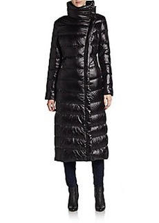 Calvin Klein Asymmetrical Down Nylon Puffer Coat