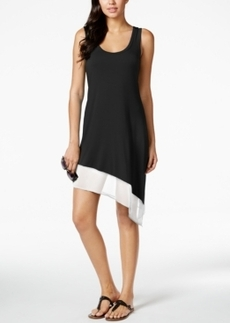 Calvin Klein Asymmetrical Tank Dress Cover Up Women's Swimsuit