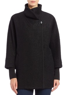 CALVIN KLEIN Asymmetrical Wool-Blend Coat