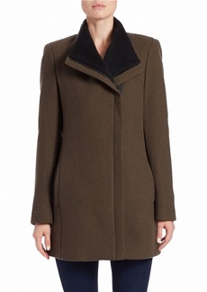 CALVIN KLEIN Asymmetrical Zip Coat