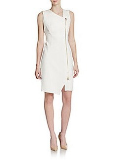 Calvin Klein Asymmetrical Zip-Front Dress