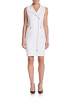 Calvin Klein Asymmetrical Zip-Front Dress
