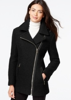 Calvin Klein Asymmetrical-Zip Wool Coat