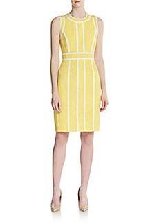 Calvin Klein Banded Tweed Sheath Dress
