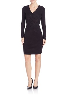CALVIN KLEIN Basketweave Knit Sheath Dress