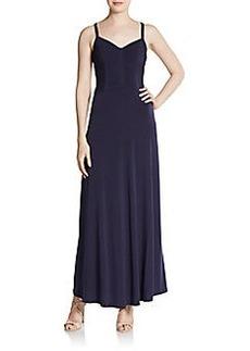 Calvin Klein Beaded Crisscross-Back Dress