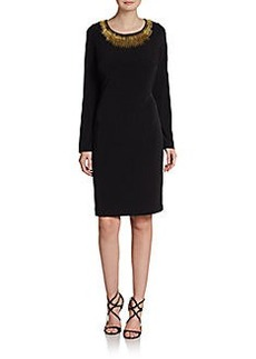 Calvin Klein Beaded Jersey Shift Dress