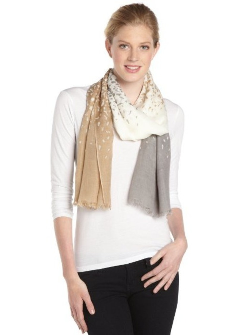 Calvin Klein beige, brown and grey leopard crepe wrap