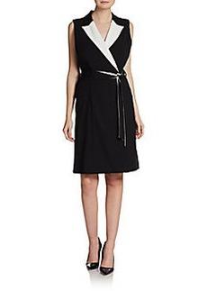 Calvin Klein Belted A-Line Dress
