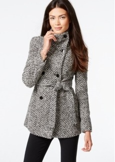 Calvin Klein Belted Boucle Peacoat