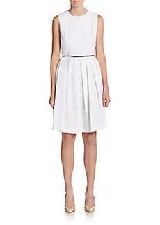 Calvin Klein Belted Eyelet Dress