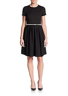 Calvin Klein Belted Fit-And-Flare Dress