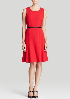 Calvin Klein Belted Flare Dress
