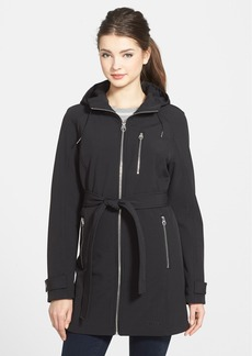 Calvin Klein Belted Hooded Soft Shell Coat