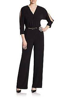 Calvin Klein Belted Jersey Jumpsuit